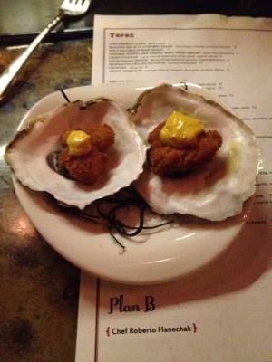 oysters with menu